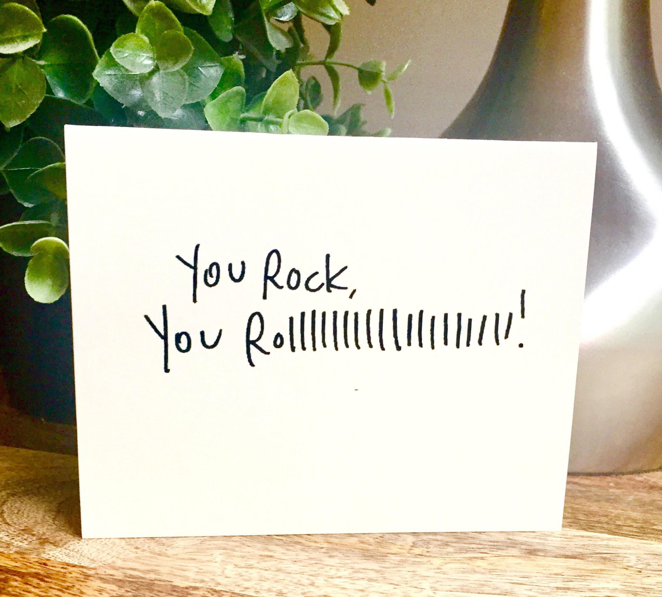 10 Pack Thank You Cards You Rock Card Handmade Hello Car Bulk