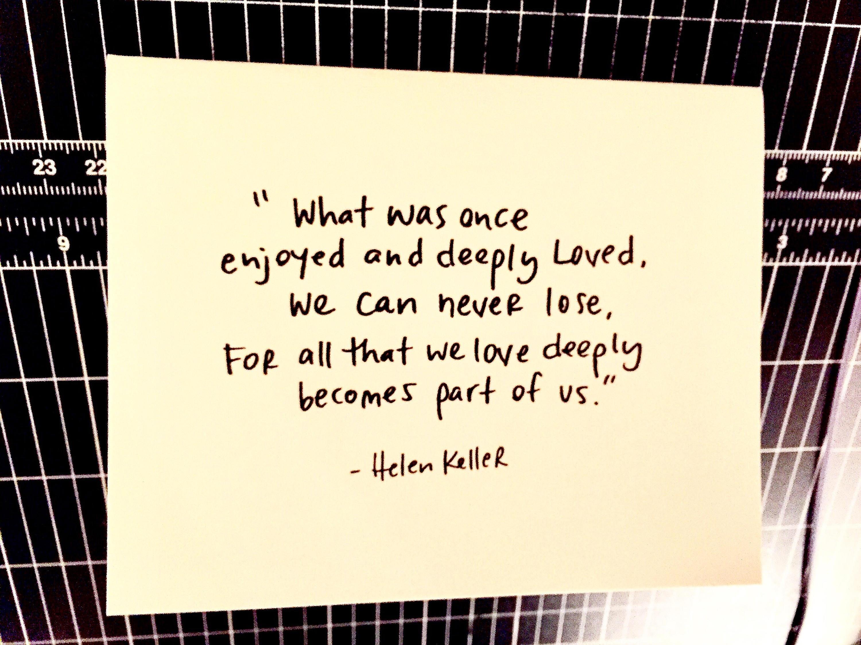 Sidesandwich 10 pack blank notecards, Helen Keller Quote ...