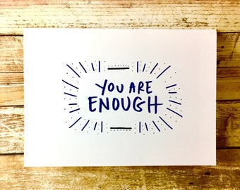 You are Enough Card, Encouragement Card