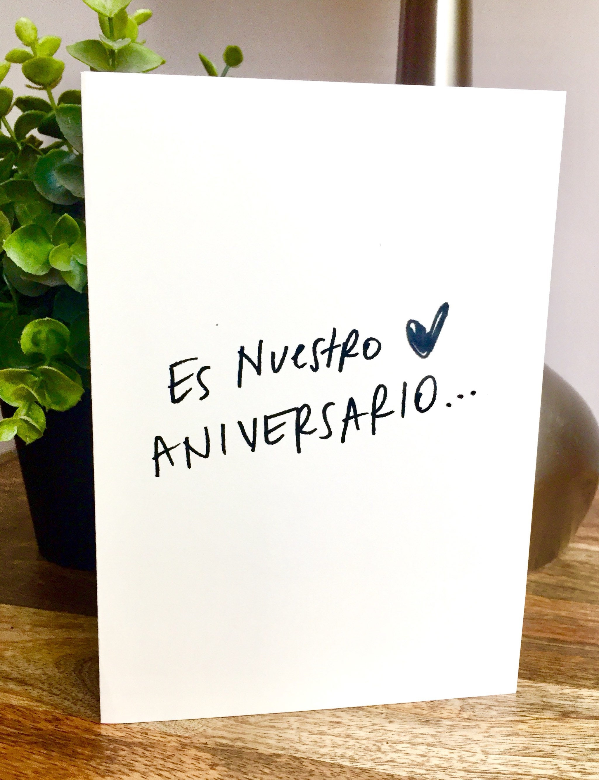 Es Nuestro Aniversario One Year Anniversary Card For Husband Paper