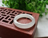 SALES US Size (18.8mm Inner Diameter) Icy Translucent Type A Grade A Natural Jadeite Jade Fei Cui Abacus Band Ring