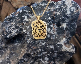 Golden Shar Pei Necklace, Shar Pei Necklace, Shar Pei Art, Dogs Necklaces, Dogs Pendants, Shar Pei Gifts, Shar Pei Tag, Shar Pei Dog,