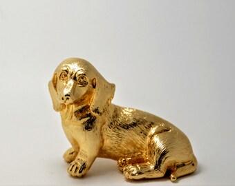 Goldenen Dackel, Dachshund Hund, Dackel Geschenke, Miniature Dachshund, Hund Figur, Dackel Figurine, Hunde Geschenke, Dackel-Skulptur