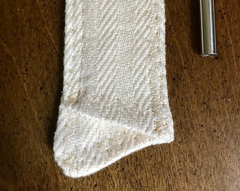 Natural Hemp Sleeve - to carry your reusable straw!