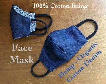 Hemp Denim Face Mask