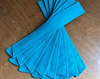 8 Teal StrawSleeves - bulk priced