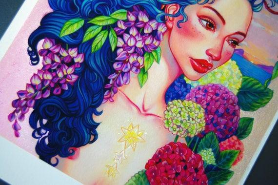 Shibun Limited Edition Hand Embellished Giclee Print