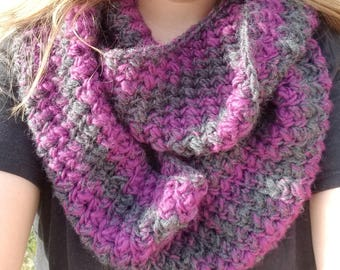 Adult crochet infinity scarf