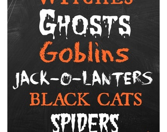 Halloween Collage Digital Download PRINTABLE!