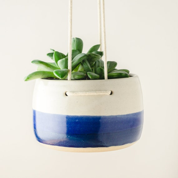 Hanging Planter, Ceramic Planter, Air Plant Holder, Succulent Pot, Bohemian Decor