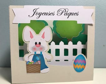 happy 3D Easter card