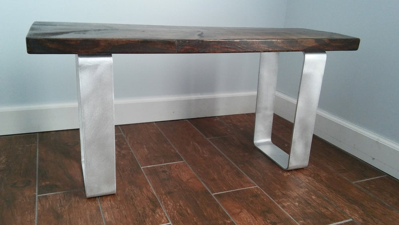 48 Hour Sale Aluminum Modern Industrial Bench Legs Pair Of Etsy