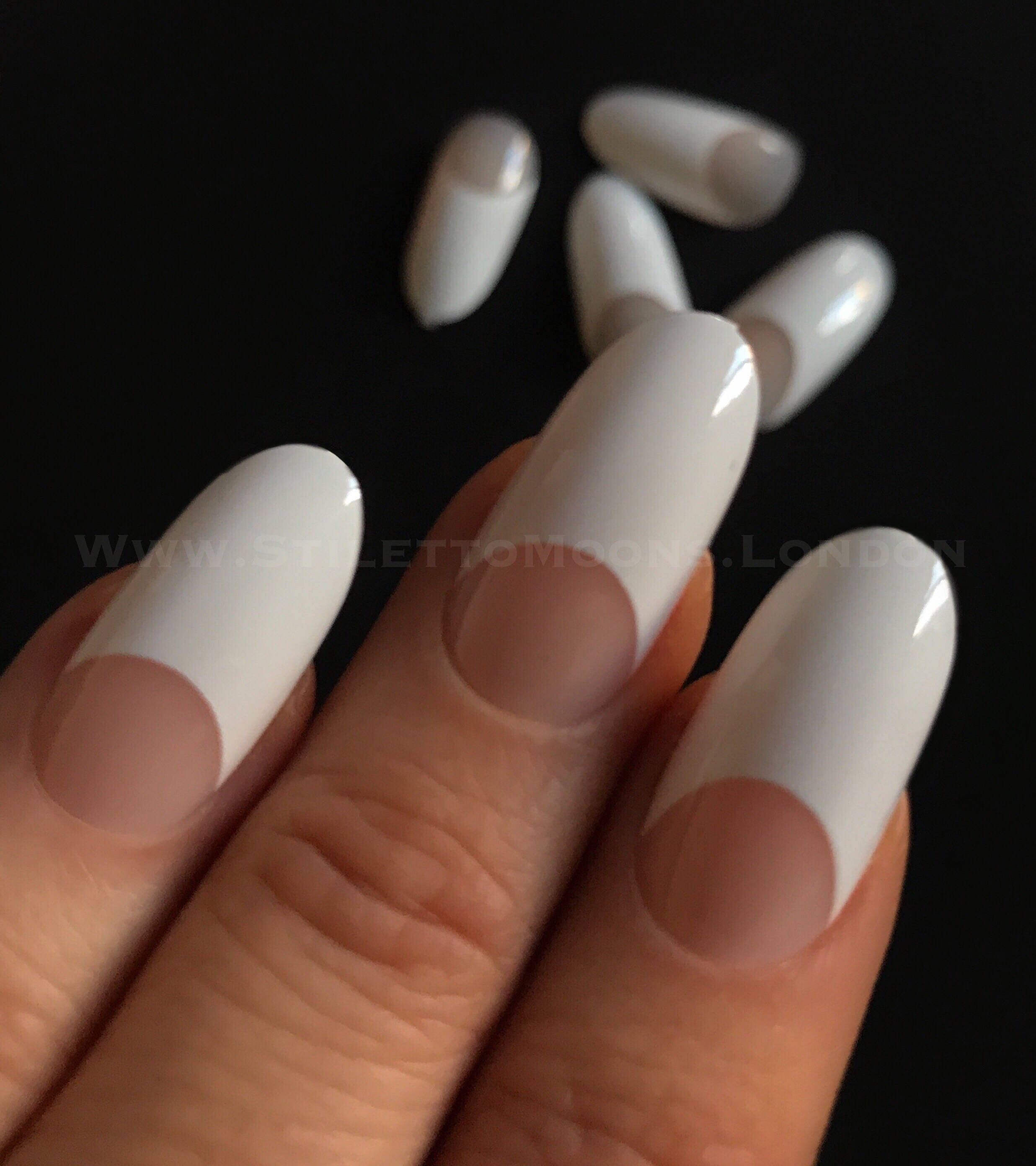 Colorful French Manicure Stiletto Nails Image - Nail Art Ideas ...