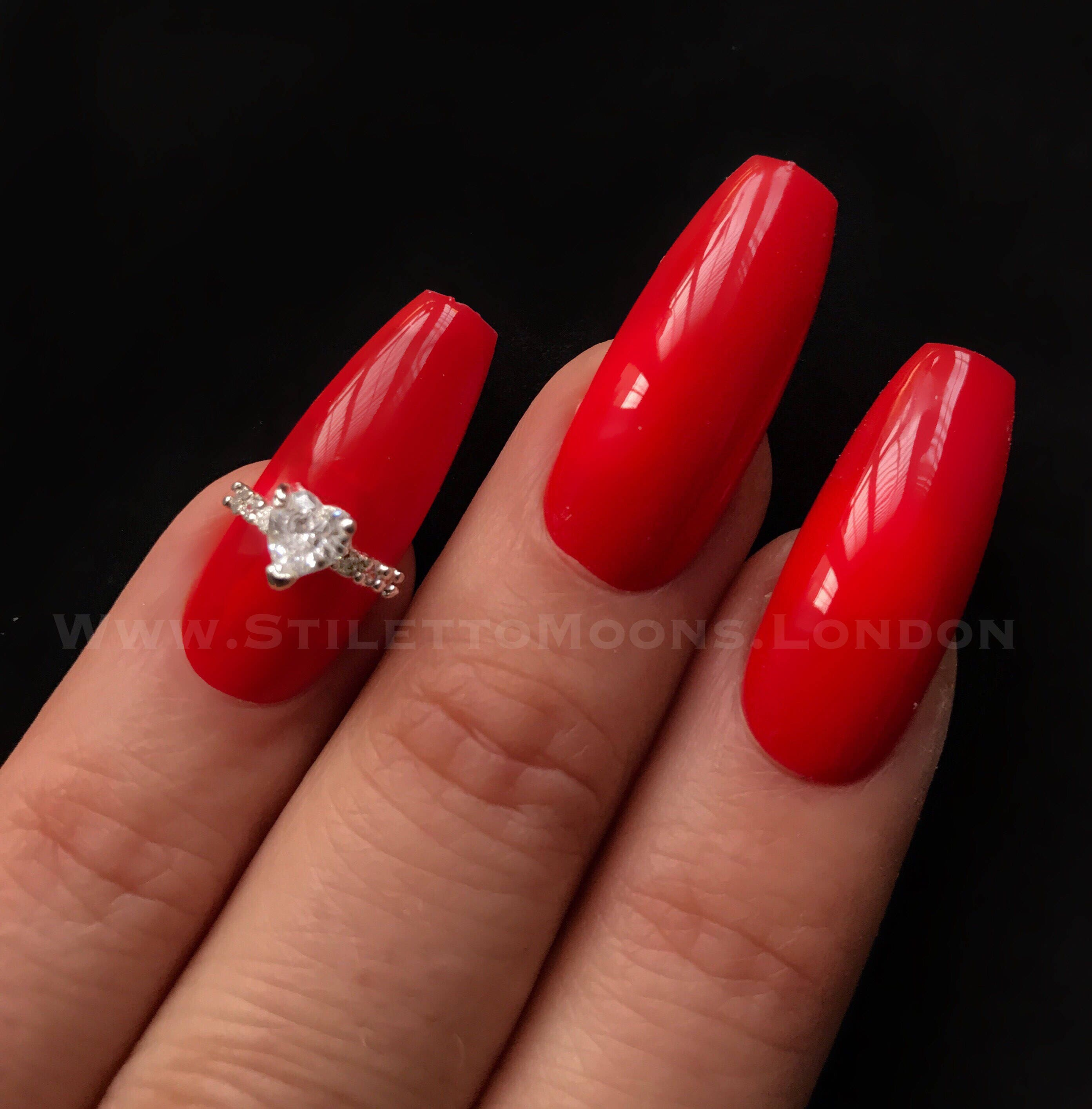 Unique design Sparkling limited edition zircon half nail art ring ...