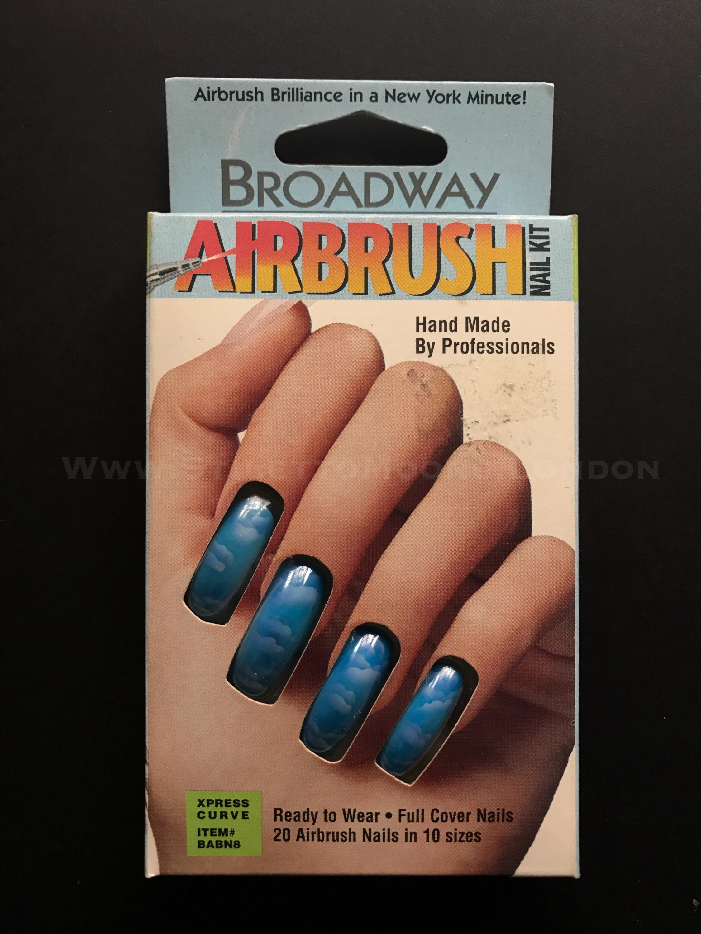 Unique Vintage BRoadway boxed airbrushed design long curved | Etsy