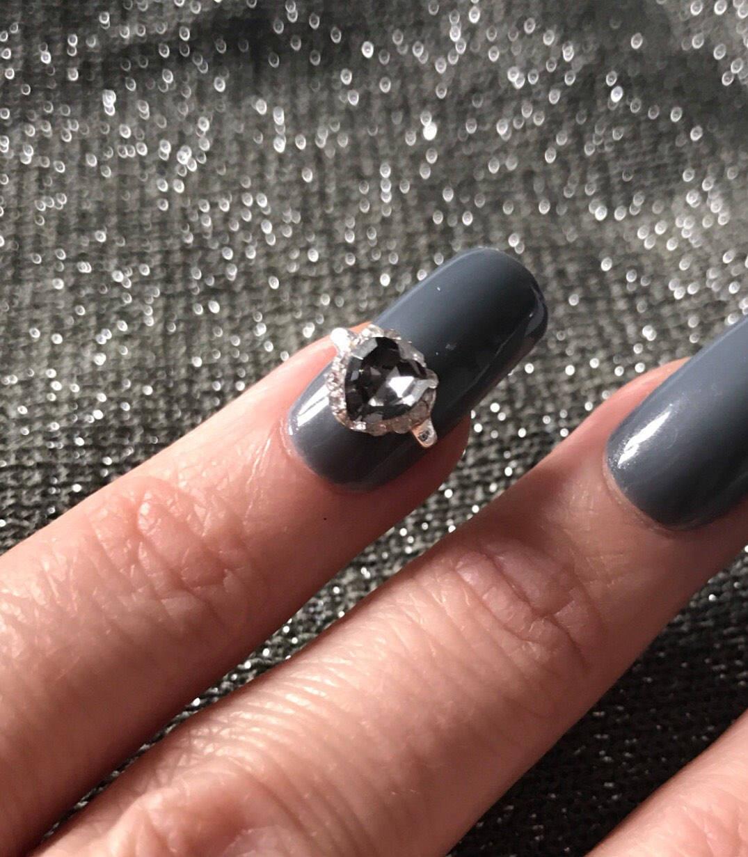 heart shape Stunning Rhinestone nail ring jewel diamond nail art stone