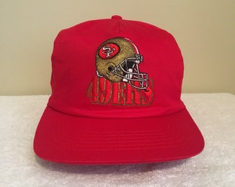 San Francisco 49ers NFL Football Vintage 90 s Red Adult Mens Baseball Snapback  Hat Cap 032bb6715576