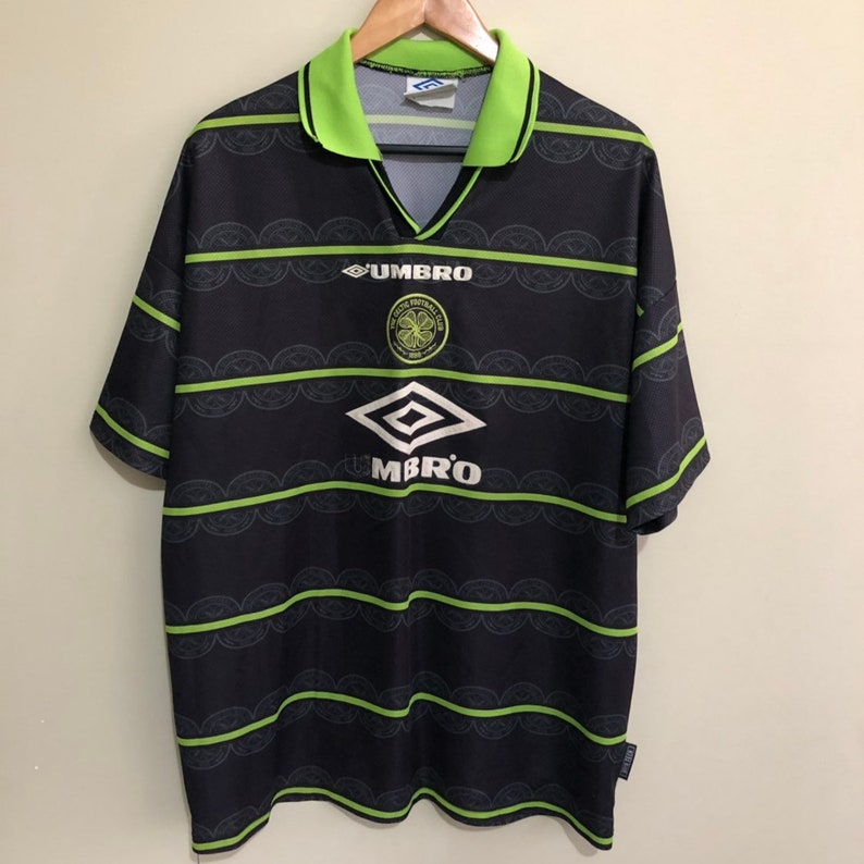 hot sale online 127c6 326d8 Celtic Scotland 1998 Umbro Away Football Shirt Jersey Vintage 90s Mens 2XL  XXL