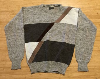 Vintage Target Cosby Style Knit Sweater Knitwear Jumper Brown Tan Mens M 100cm PMm6y