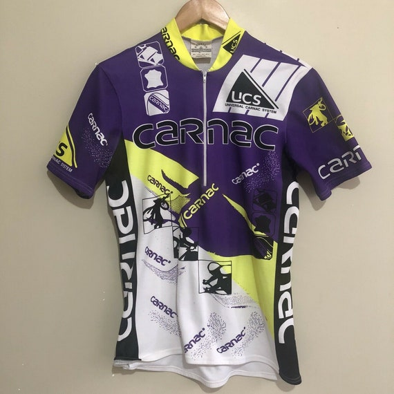 Carnac Neon Vintage 90's Cyclist Cycling Jersey Sh