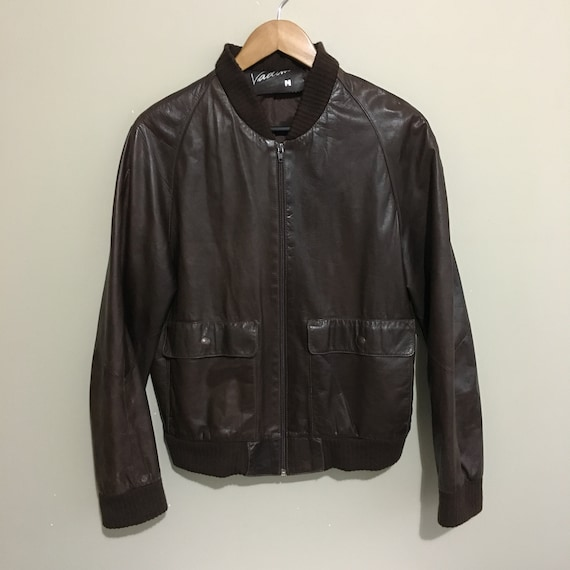 Vadim Leather Bomber Jacket Vintage 80's Brown Men
