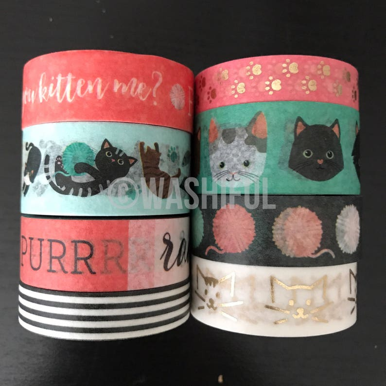 18 24 Samples Of Craft Smart Cats Washi Tape Etsy