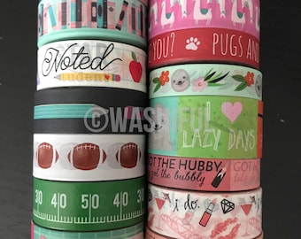 "18""/24"" SAMPLES of Recollections assorted washi tape (M229)"