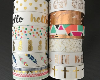 """CLEARANCE! 18"""" SAMPLES of Foil washi tape (M85)"""