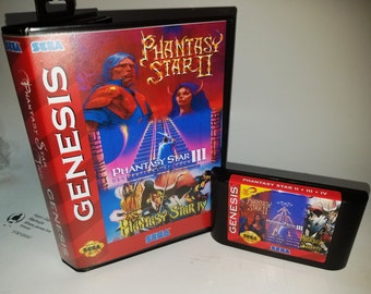 Phantasy Star 2,3 and 4 in 1 cartridge