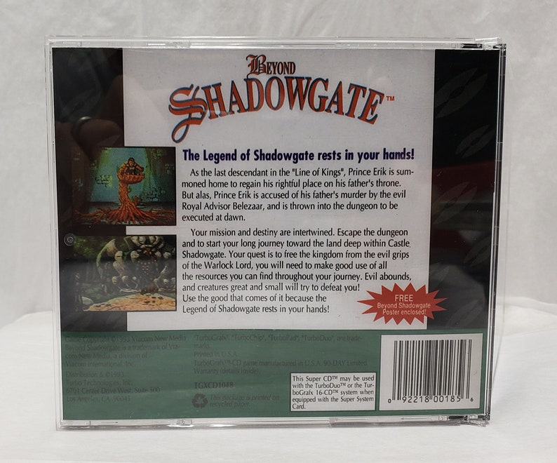 Beyond ShadowGate With Maual Book Option