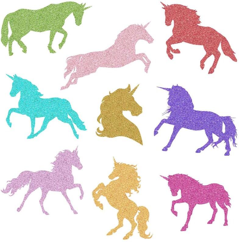 Rainbow Glitter Unicorn, Magical Unicorns, Unicorn silhouette, Unicorn  scrapbook, Unicorn clipart, Rainbow clipart, Unicorn Digital Paper