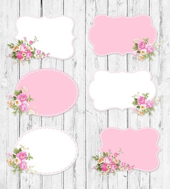 Shabby Chic Labels Shabby Chic Frames Floral Shabby Chic | Etsy