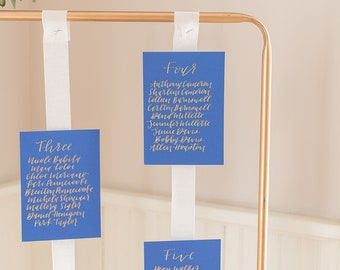 Seating Chart Cards - Custom Seating Chart - Calligraphy Seating Cards - Wedding Seating Arrangement - Wedding Calligraphy Seating Chart