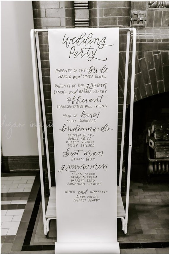 oversized scroll wedding program oversized scroll ceremony etsy