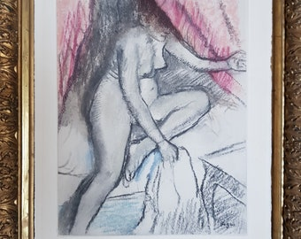 Degas etching and aquatint