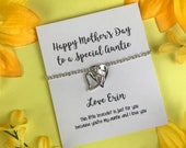 Bracelet For Auntie, Mother 39 s Day Gift, Gift For Auntie, Bracelet, Mother 39 s Day, Special Auntie, Silver Bracelet, Aunt, Mother 39 s Gift