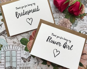 Wedding Card,  Thank You For Being My Bridesmaid, Bridesmaid Thank You, Bridesmaid, Wedding Thank You, Thank You Card, Wedding Stationery