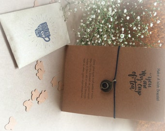 You're My Cup Of Tea - Gift Set containing a Make A Wish Bracelet & Tea Envelope, Tea, Tea Lover, Gift For Tea Lover