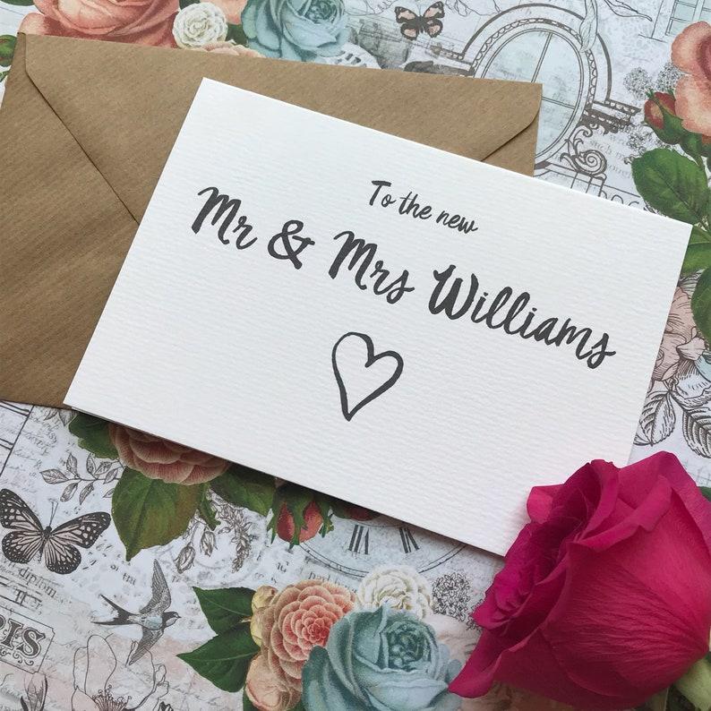 Personalised Wedding Card Wedding Stationery Wedding Cards Wedding Day Card To The New Mr /& Mrs Wedding Card Wedding Day