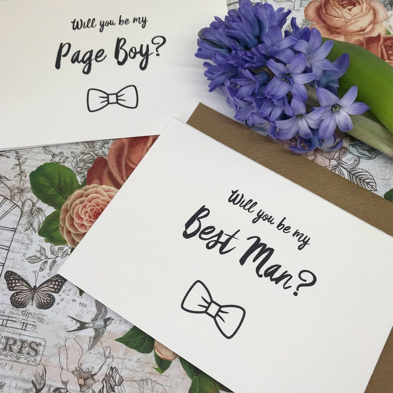 Usher Wedding Card Card Will You Be My Best Man? Best Man Wedding Page Boy Groomsman Wedding Stationery