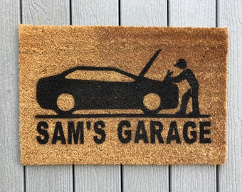 Custom Garage Door Mat! Personalized Welcome Mat For Your Garage!