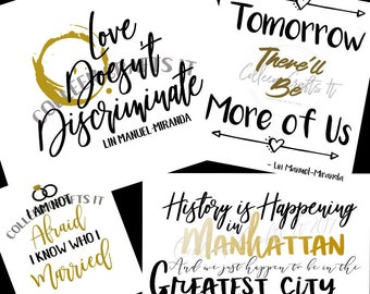 Hamilton Quotes Multipack,  Printable Quote, Hamilton, Lin Manuel Miranda Quote, Hamilton Quote, A Wrinkle in Time, Instant Download