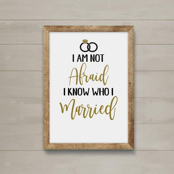 I Am Not Afraid I Know Who I Married Eliza Hamilton Etsy