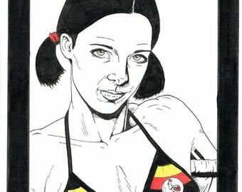 Lina in Ugandan Bikini