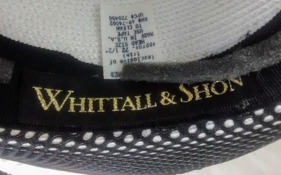 Whittall & Shon Black and White Straw Wide Brim H… - image 8