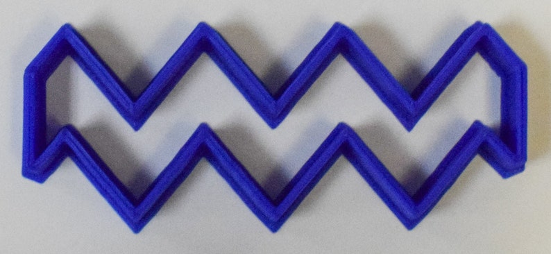 Chevron Special Occasion Fondant Stamp Cutter or Cupcake Topper Size 1.75 Made in USA FD262