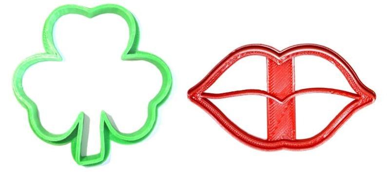 Kiss Me I/'m Irish Saint Patrick/'s Day Shamrock Lips St Patty/'s Party Celebration Set Of 2 Cookie Cutter USA PR1162