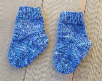 Handknit Baby Socks - Handknit Baby Booties - Handknit Wool Baby Socks - Handknit Newborn Socks - Knitted Infant Socks - Newborn Booties