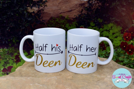 Muslim Wedding Gift Ideas: Items Similar To Half His Deen And Half Her Deen Mug Set