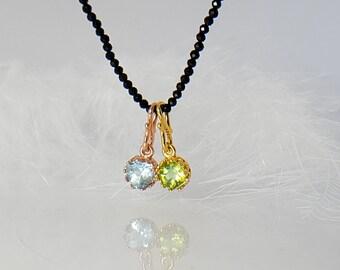 Anhänger Bergkristall Brillantschliff in Fassung Silber Roségold Gelbvergoldet